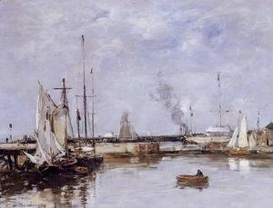 Eugène Boudin - The Lock at Trouville