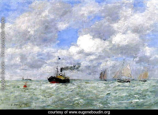 English Coal Ship in View of Trouville