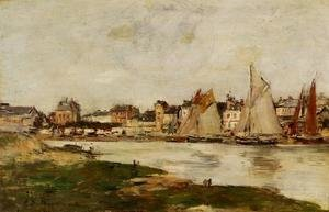 Eugène Boudin - View of the Port of Trouville, High Tide