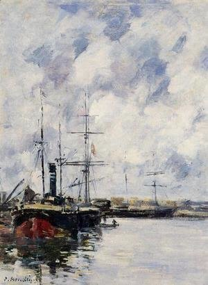Eugène Boudin - A Corner of the Deauville Basin