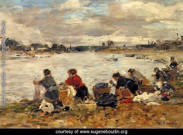 Laundresses on the Banks of the Touques VII