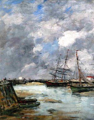 Eugène Boudin - Trouville, the Jettys, Low Tide IV