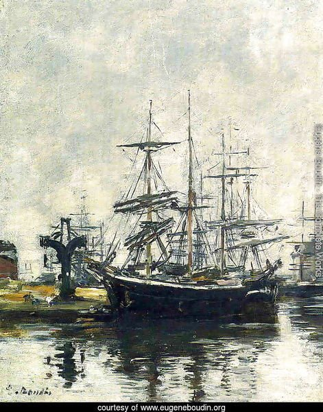 Le Havre, Sailboats at Dock, Bassin de la Barre