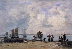 Eugène Boudin - Fishermen's Wives at the Seaside