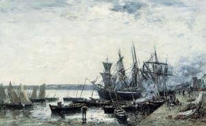 Eugène Boudin - Camaret, the Port I
