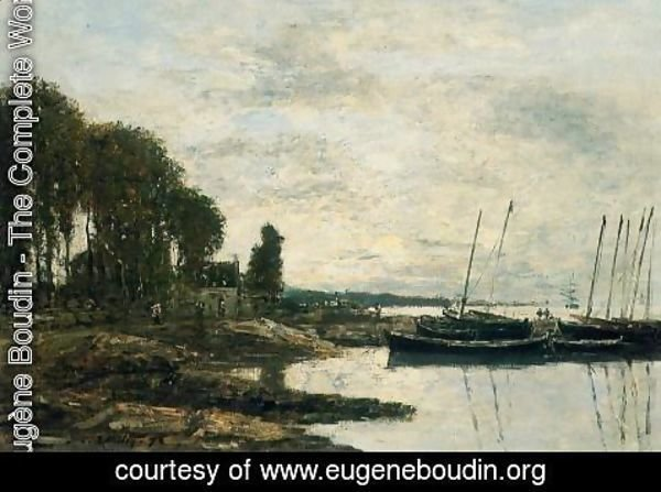 Eugène Boudin - The Shore at Plougastel