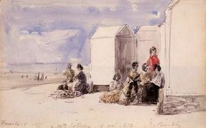 Eugène Boudin - Crinolines on the Beach III