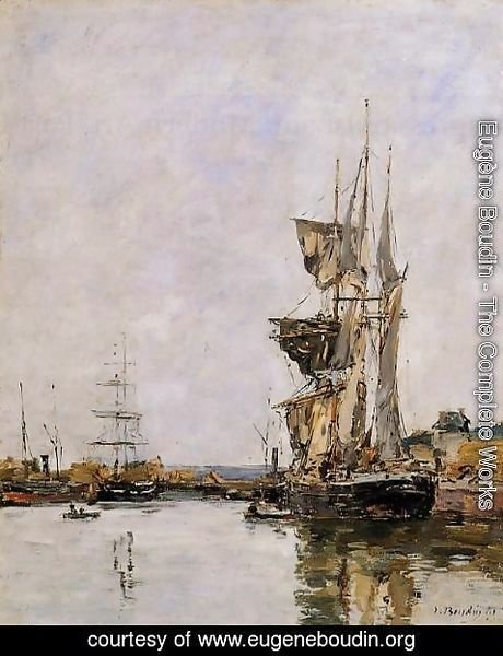 Eugène Boudin - Deauville, the Harbor I