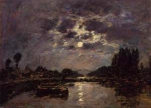 Eugène Boudin - The Effect of Moonlight