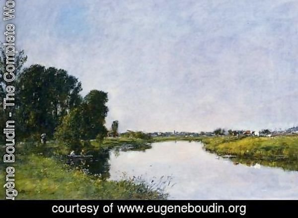 Eugène Boudin - The Touques at Saint-Arnoult