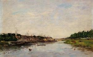 Eugène Boudin - Entrance to the Port of Saint-Valery-sur-Somme