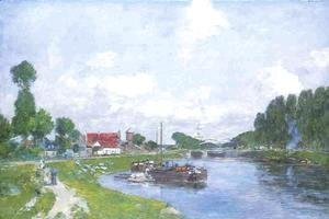 Barges on the Canal, Saint-Valery-sur-Somme