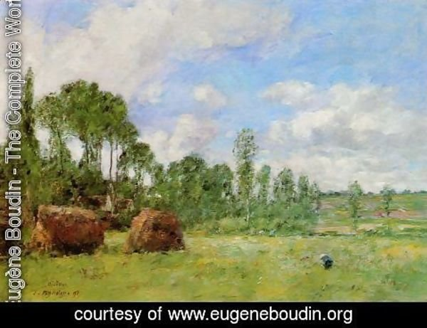 Eugène Boudin - Oiseme at Harvest Time