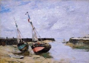 Eugène Boudin - Trouville, the Jettys, Low Tide V