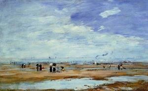Eugène Boudin - Deauville, the Beach, Low Tide