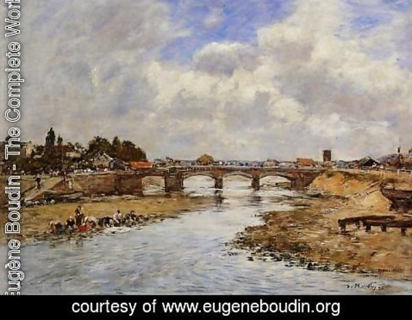 Eugène Boudin - Laundresses on the Banks of the Touques X