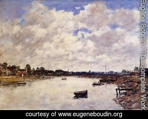 Eugène Boudin - The Banks of the Touques I