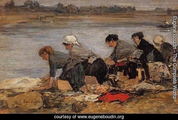Laundresses on the Banks of the Touques XI