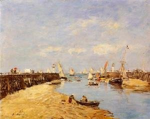 Eugène Boudin - Trouville, the Jettys, Low Tide VI
