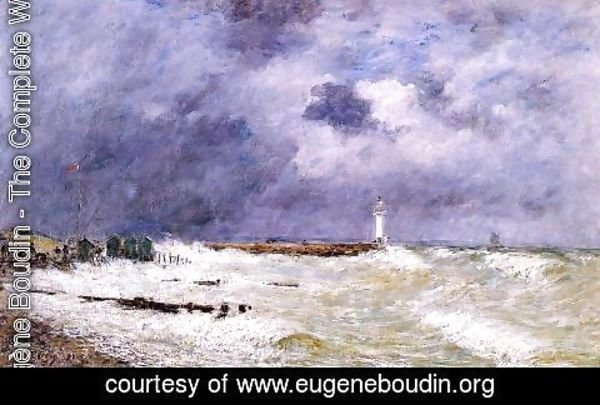 Eugène Boudin - Le Havre, Heavy Winds off of Frascati
