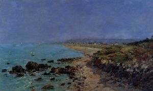 Eugène Boudin - Douarnenez, the Shore and the Bay