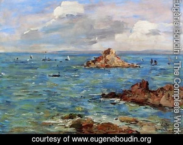 Eugène Boudin - The Sea at Douarnenez