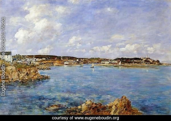 Douarnenez, the Bay, View of I'Ile Tristan