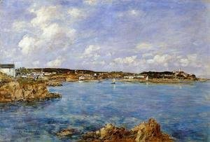 Eugène Boudin - Douarnenez, the Bay, View of I'Ile Tristan