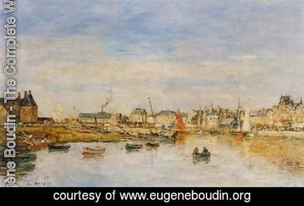 Eugène Boudin - The Port of Trouville I