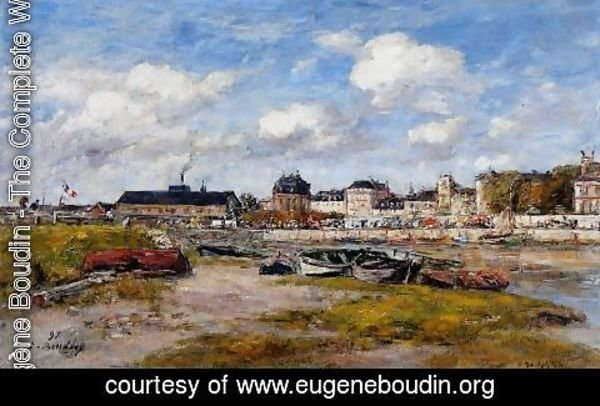 Eugène Boudin - The Port of Trouville, Low Tide