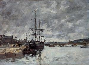 Eugène Boudin - The Bridge over the Toques at Trouville