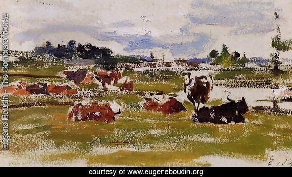 Cows in Pasture I