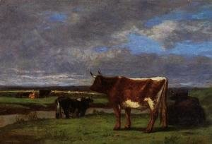 Eugène Boudin - Cows near the Toques