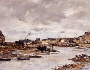 Eugène Boudin - The Inner Port of Trouville at Low Tide