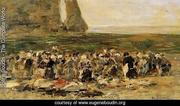 Laundresses at Etretat