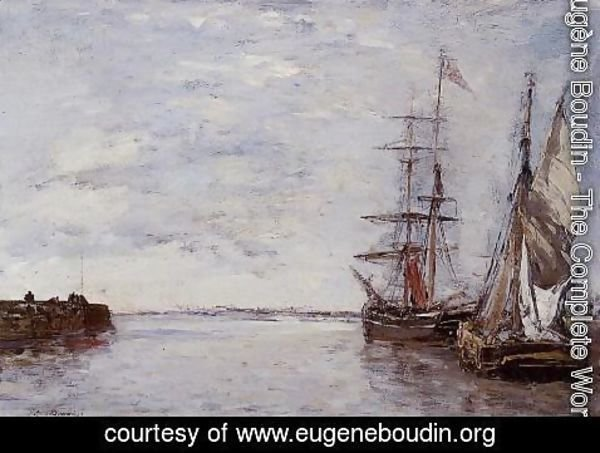 Eugène Boudin - The Port at Deauville