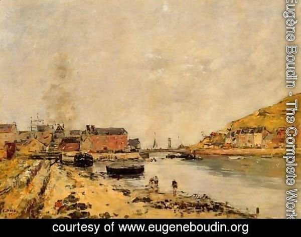Eugène Boudin - Fecamp, the New Basin