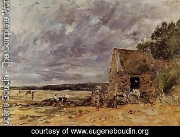 Eugène Boudin - The Rocks at Saint-Vaast-la-Hougue