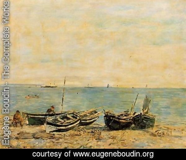 Eugène Boudin - Sainte-Adresse, the Shore