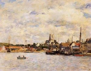 Eugène Boudin - Fecamp, the Port