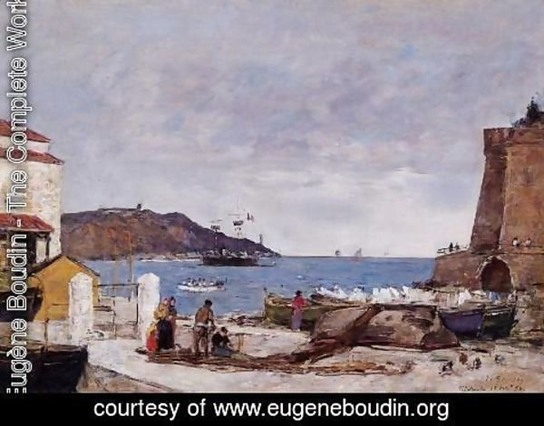 Eugène Boudin - The Bay of Villefranche, the Port