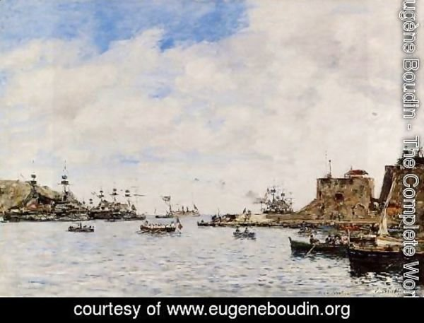 Eugène Boudin - Villefranche, the Harbor