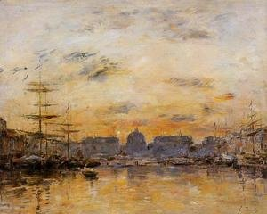 Eugène Boudin - The Commerce Basin, Le Havre