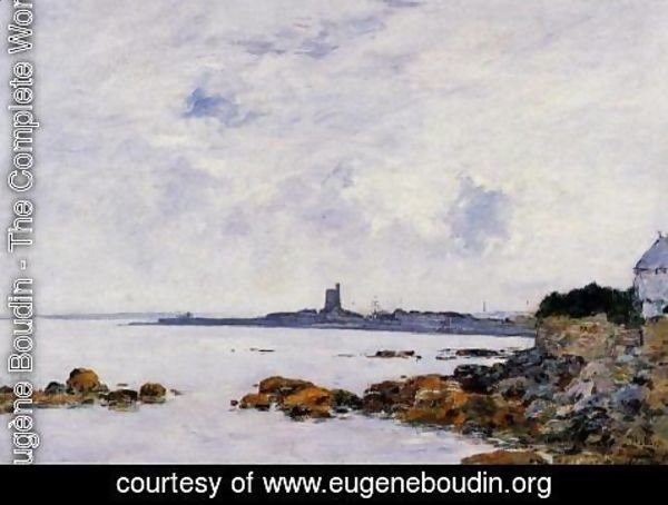 Eugène Boudin - Saint-Vaast-la-Houghe, the Rocks and the Fort