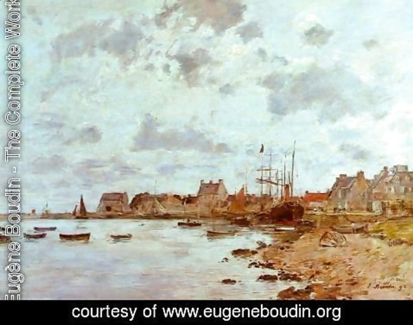 Eugène Boudin - The Port at Saint-Vaast-la-Houghe