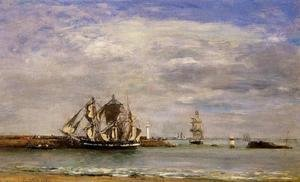 Eugène Boudin - Trouville, the Jettys, High Tide I