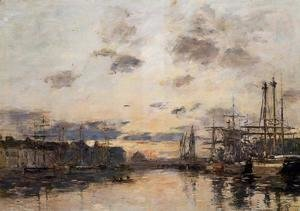 Eugène Boudin - Fecamp, the Basin II