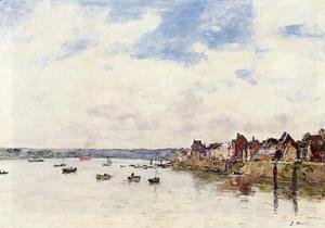 Eugène Boudin - The Seine at Quillebeuf