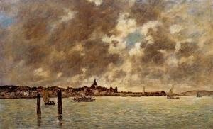 Eugène Boudin - The Seine at Quilleboeuf