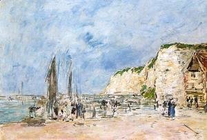 Eugène Boudin - Dieppe, the Pollet Cliffs